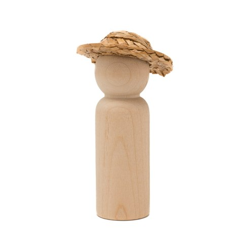 #20A wood man peg doll with a #3032A hat